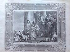 PAOLO VERONESE Gesù donna in ginocchio acquaforte XVIII sec. A. JOSEPH PRENNER