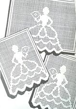 671 Vintage COLONIAL GIRL IN FILET Pattern to Crochet (Reproduction)
