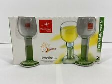 Set Of 3 Vintage Bormioli Rocco After Dinner Limoncino Glasses Made In Italy New