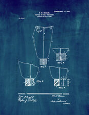 New listing Bicycle Or Golf Trousers Patent Print Midnight