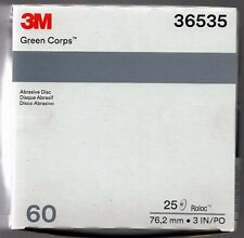 3m Green Corps Roloc Grinding Discs 3 60 Grit 3m 36535 Replacement For 3m 01407