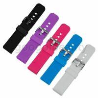 Für Pebble Time/Time Steel Smart Watch Silikon Armband Uhrenarmband Strap w/Pins