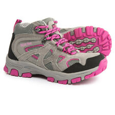 NEW Pacific Trail Diller Jr Girls Hiking Shoes Boots Grey/Pink Size 6 M Big Kid