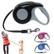 3M/5M Retractable Dog Lead Tape Automatic Extendable Walking Leash Small Medium