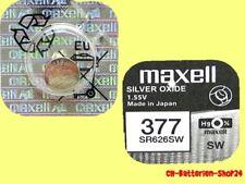 3 x Maxell 377 Uhren Batterie Knopfzelle SR626SW SR626 AG4 Silberoxid Neu