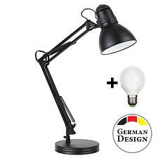 Retro LED Schreibtischlampe Arbeitsplatzlampe Arbeitslampe Gelenkarm Tischlampe
