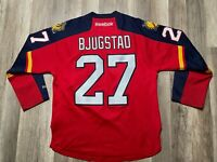 Auth Reebok Florida Panthers NHL #27 Nick Bjugstad Hockey Signed Auto Jersey