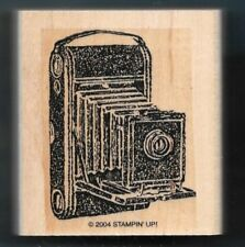 BOX CAMERA Antique Photography Stampin' Up! Travel Post 2004 wood Rubber Stamp