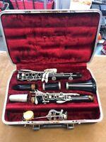 Vintage Selmer Duraform Clarinet 248399 Goldentone 3 Bundle