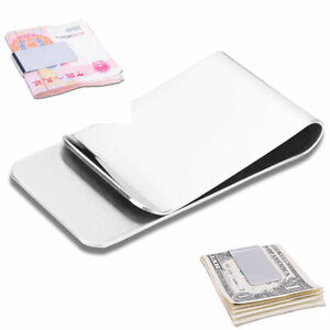 Fashion Wholesale Lots Man Blank Brass/Stainless steel money clip Gift free ship