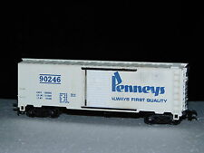 RARE ** J.C. PENNYS ** 40' BOX CAR  TYCO ** METAL CHASSIS  HO Scale Train *mint*