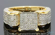 Engagement Ring Yellow Gold Over Round Cut Women D/Vvs1 Diamond