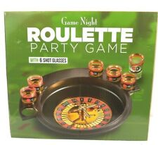 Adult Drinking Game Night Roulette Party With 6 Shot Glasses New
