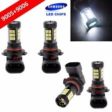 Combo Set 9006 + 9005 Samsung LED 57-SMD White Headlight Light Bulb Hi/Lo Beam