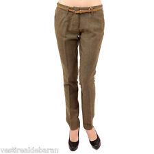Pantaloni Donna SILVIAN HEACH D320 Marrone/Ocra Gamba Dritta Tg 38 40