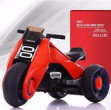 Bdq-6188 Mini Bike Electric Tri-Scooter Music & Light & Usb Input & Battery Red