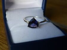 9k White Gold Bengal Iolite and Diamond Ring