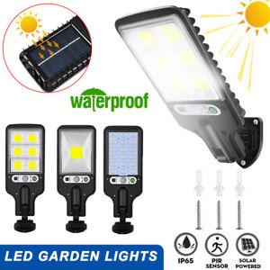 600W LED Solar Street Light PIR Motion Sensor Outdoor Garden Security Wall Lamp