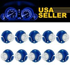10 x T5 T4.7 Neo Wedge Led Blue 12mm 12V 3 SMD Light Bulbs A/C Climate Control