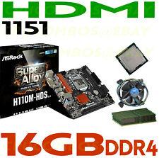 Intel G3900 CPU LGA1151+16GB DDR4 RAM+ASRock H110M-HDS R3.0 HDMI Motherboard NEW