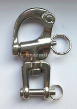 """Free shipping 2.7"""" 316# Stainless steel swivel snap shackle sailing boat Yacht"""