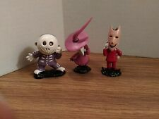 Lot Of 3 Lock Shock Barrel, Masks Pvc Figurines 1990s Nightmare Before Christmas