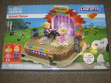 The Peanuts Movie School Dance, Lego, Lite Brix LIGHTS SOUNDS SOLD OUT NIB