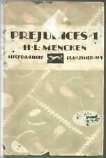 PREJUDICES 1 - H.L. MENCKEN (hc/dj) 1929 Pocket Book