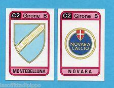 PANINI CALCIATORI 1983/84 -Figurina n.563- MONTEBELLUNA+NOVARA - SCUDETTO -Rec