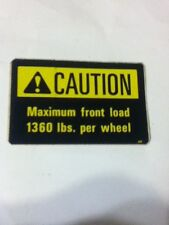 66757C1 - Is A Caution Front Load Maximum Decal For An IH 574, 674 Tractor.