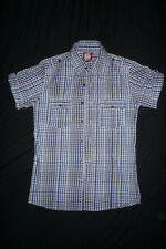 mens Short Sleeved Checked shirt FASHION RUN & FLY 38-40 chest