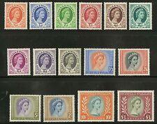Rhodesia & Nyasaland  1954-56  Scott #141-155 MLH Part Set