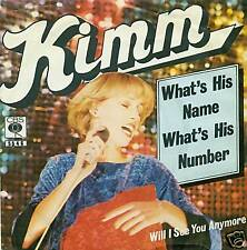 "KIMM WHAT'S HIS NAME WHAT'S HIS NUMBER 7"" SINGLE (S761)"