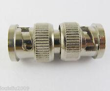 50pcs BNC male To BNC male Plug M/M RF Adapter connectors Nickel NEW