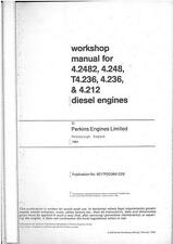 PERKINS ENGINE A4.2482 AT4.236 A4.236 A4.212 WORKSHOP MANUAL