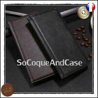 Etui coque Housse Cuir Véritable Genuine Leather case Cover Blackberry Keyone