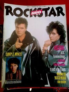 ROCKSTAR 65 1986 SIMPLE MINDS XTC Arcadia Tears for + POSTER Vasco Rossi Madness