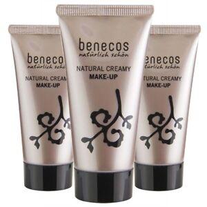 Fond de teint crème bio maquillage Benecos ( 3 teintes différentes)
