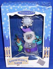 Hallmark Ornament Snowman's Land 2003 Snow Ho Ho Santa Snowman Snowflake NIB