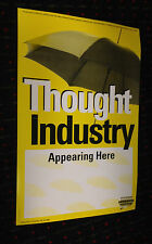 THOUGHT INDUSTRY 11x17 promo poster METAL BLADE Experimental Prog