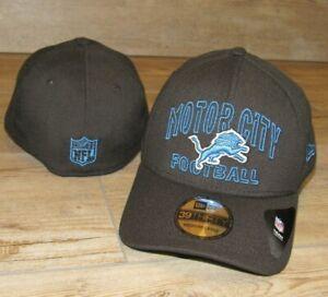 Detroit Lions NE Motor City Football 39Thirty Flex Fitted Hat Cap Men's size M/L