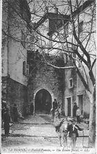Carte postale, LA TURBIE , Le portail Romain, écrite au revers.