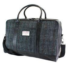 Harris Tweed Holdall weekend Travel Bag (grey check) NEW  25143