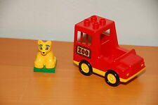 Vintage Lego Duplo Zoo Carrier Car and Tiger