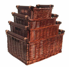 Wicker Farmhouse Decorative Baskets with Handle