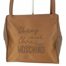 Auth Cheap and Chic MOSCHINO Logos Nylon Shoulder  Hand Bag F/S 12580bkac