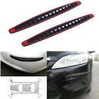 2x Carbon Fiber Pattern Car Bumper Anti-stratch Strip Corner Guard Sticker Parts