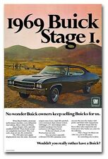 24x36 1969 Buick Stage I GS400 Poster Garage Man Cave Ad Art GS 400 '69 1 2 GSX