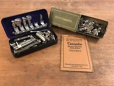 Vintage New Royal Sewing Machine Attachments, Parts & Booklet (HD26)