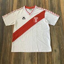 Rare Vintage CALVO PERU SOCCER  Football JERSEY VINTAGE 1980's SELECCION Peru L